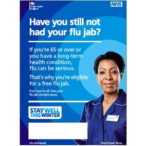 Thumbnail for A3 Printed poster, flu, for over 65 2015/2016