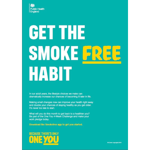 Thumbnail for A4 Employer Poster: Get the smoke free habit