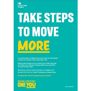 Thumbnail for A4 Employer Poster: Take steps to move more