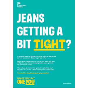 Thumbnail for A4 Employer Poster: Jeans getting a bit tight?