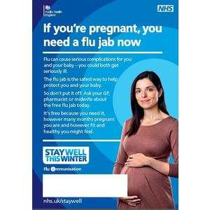 Thumbnail for A3 flu poster for pregnant women with blank space