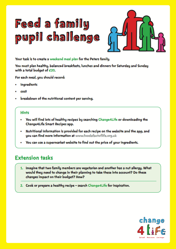 Our Healthy Year: Year 6 classroom activity sheets | PHE School Zone