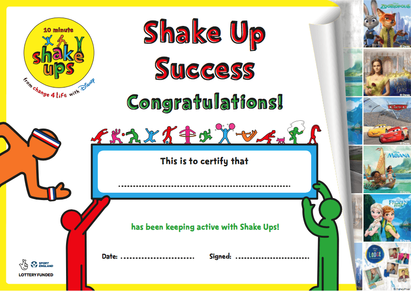 10 Minute Shake Up 2017 certificate