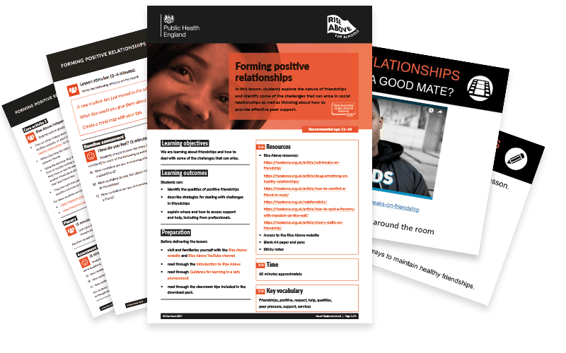 Relationships lesson plan pack