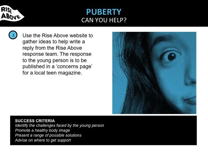 Puberty lesson plan