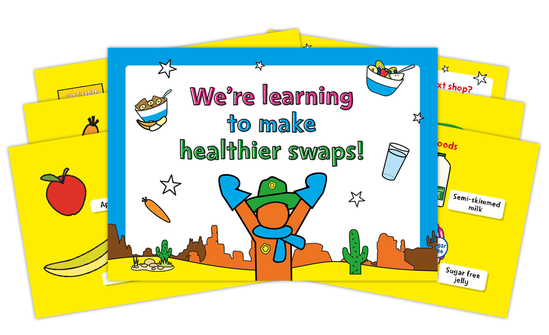 Healthier swaps display board