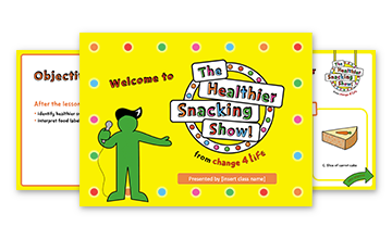 The Healthier Snacking Show: upper KS2 PowerPoint